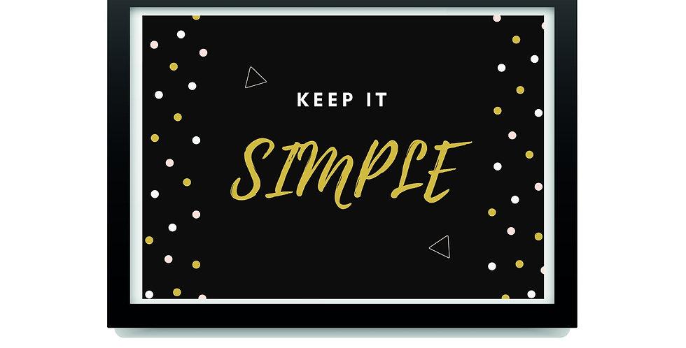 פרינט השראה KEEP IT SIMPLE