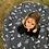 "Thumbnail: שמיכת זחילה - דגם ""נוורלנד"" מונוכרום עגול"
