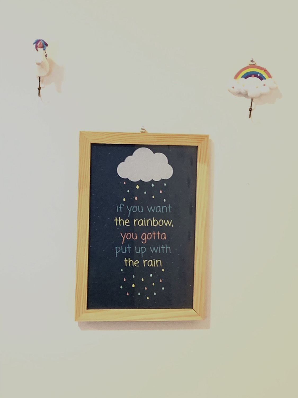 Thumbnail: פרינט משפט השראה Rainbow-Rain