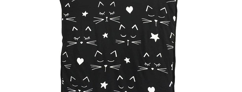 שמיכת פוך חתלתולים שחורה למיטת תינוק
