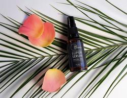 Product photography Super-Serum facial oil, for 360-Botanics, Vegan Natural Skincare Company