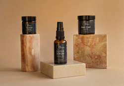 Packshot Photography Facial range products from a photographic shoot for 360 Botanics Vegan Skincare
