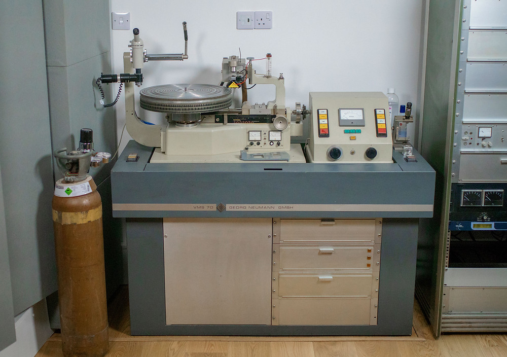 Photo of A Neumann VMS70 Vinyl Record Cutting Lathe, one of only 100 around the world