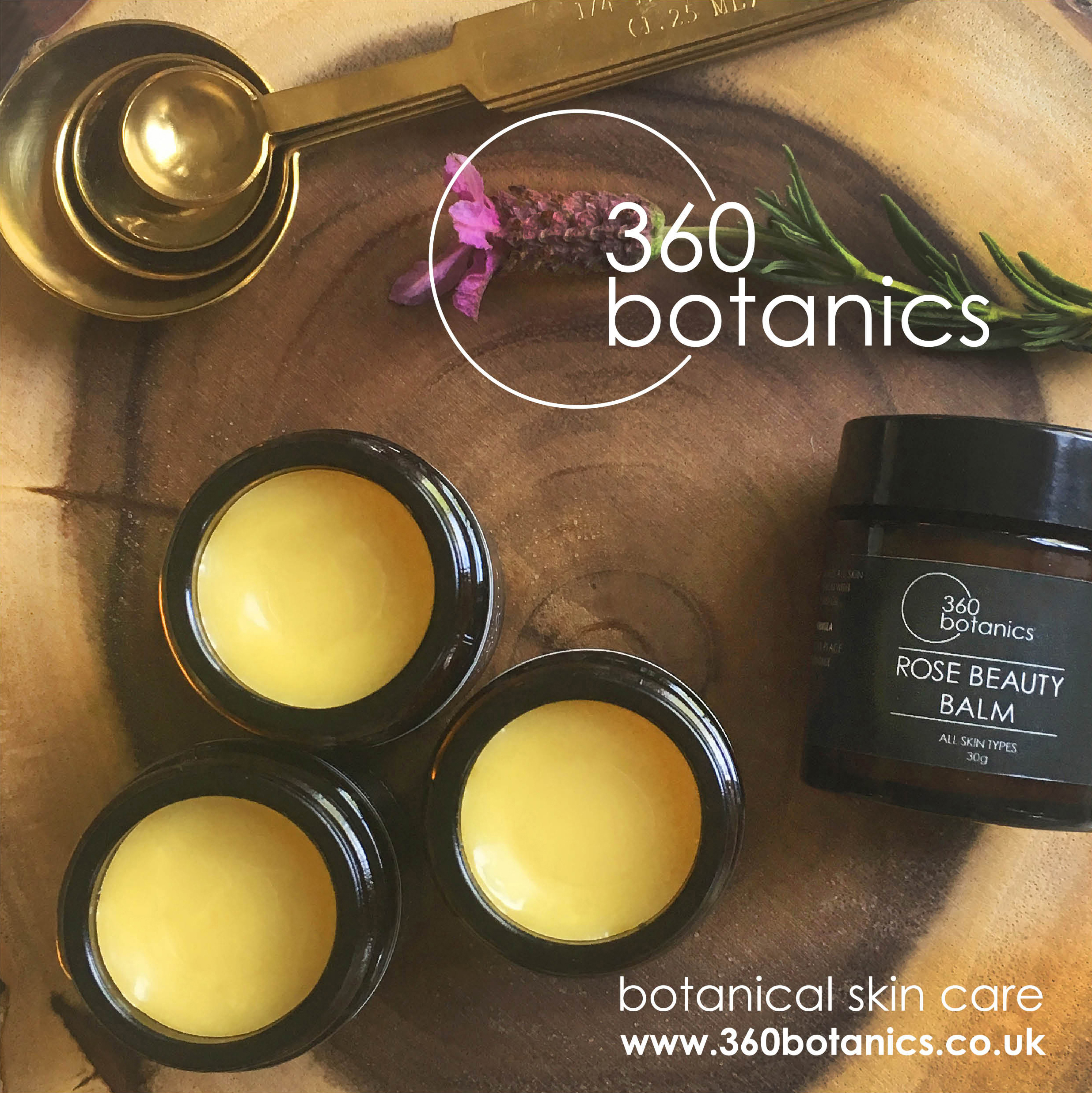 Product photography for a 360Botanics Marketing flyer Vegan Skincare brand based in Lewes sussex