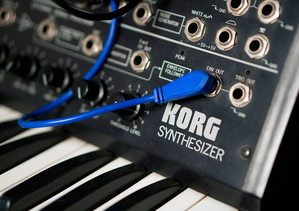 Photo of a Vintage synth Korg MS20 Monopoly synthesiser