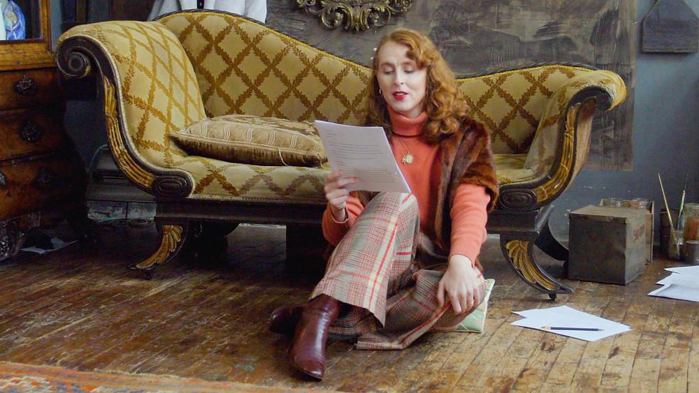 Lauren John Joseph reading Virginia Woolf's letter to Vita at Charleston