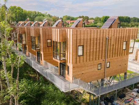 Architectural Photography & Aerial Videography for Eco-Housing development 'Flimwell Park' Sussex