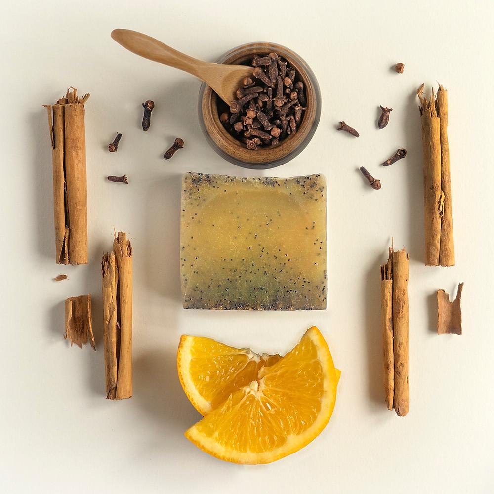 Beauty product photograph-Organic handmade Vegan soap Flatlay style