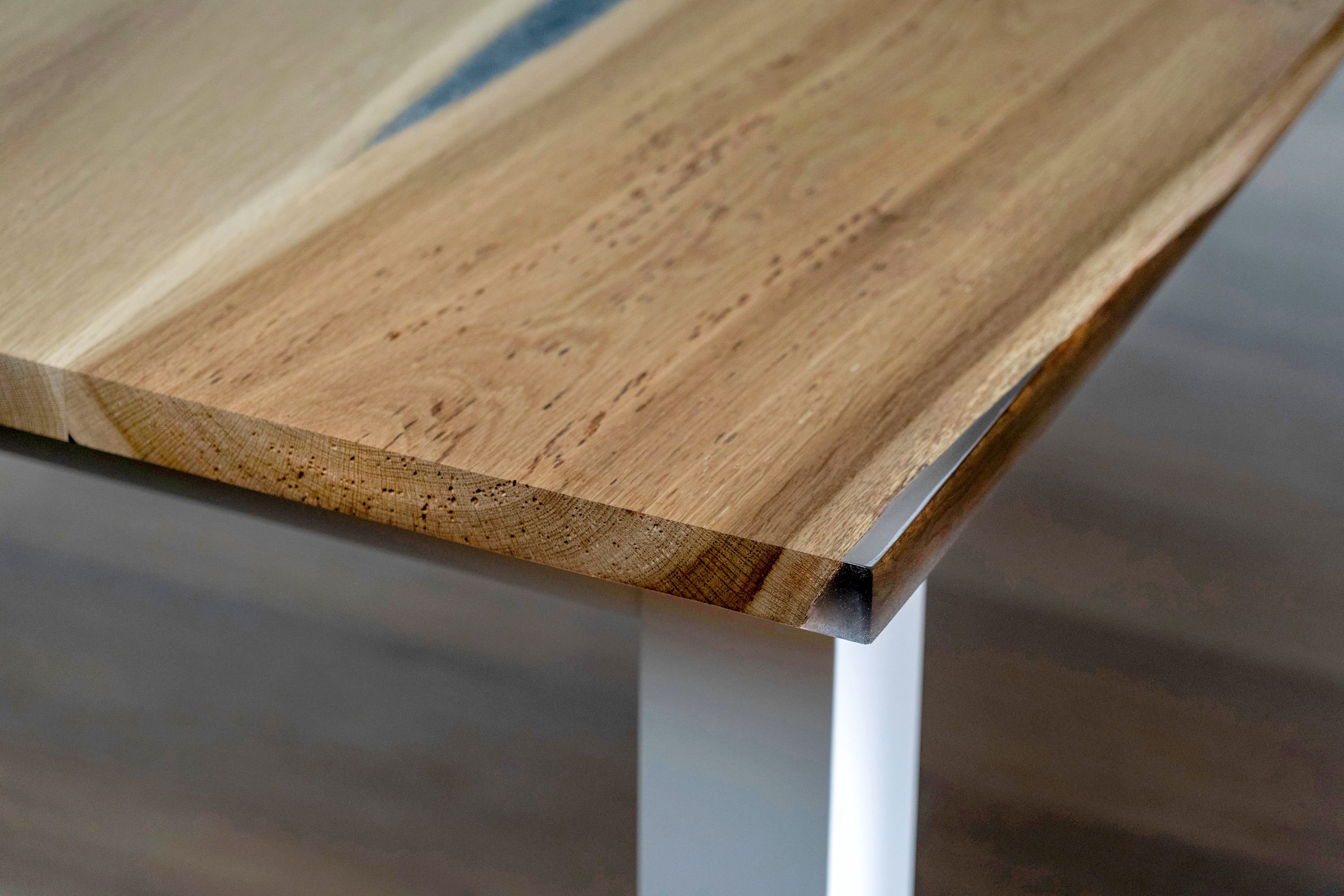 Marketing Photography of a bespoke table created by artisan furniture makers Earthy Timber in East S