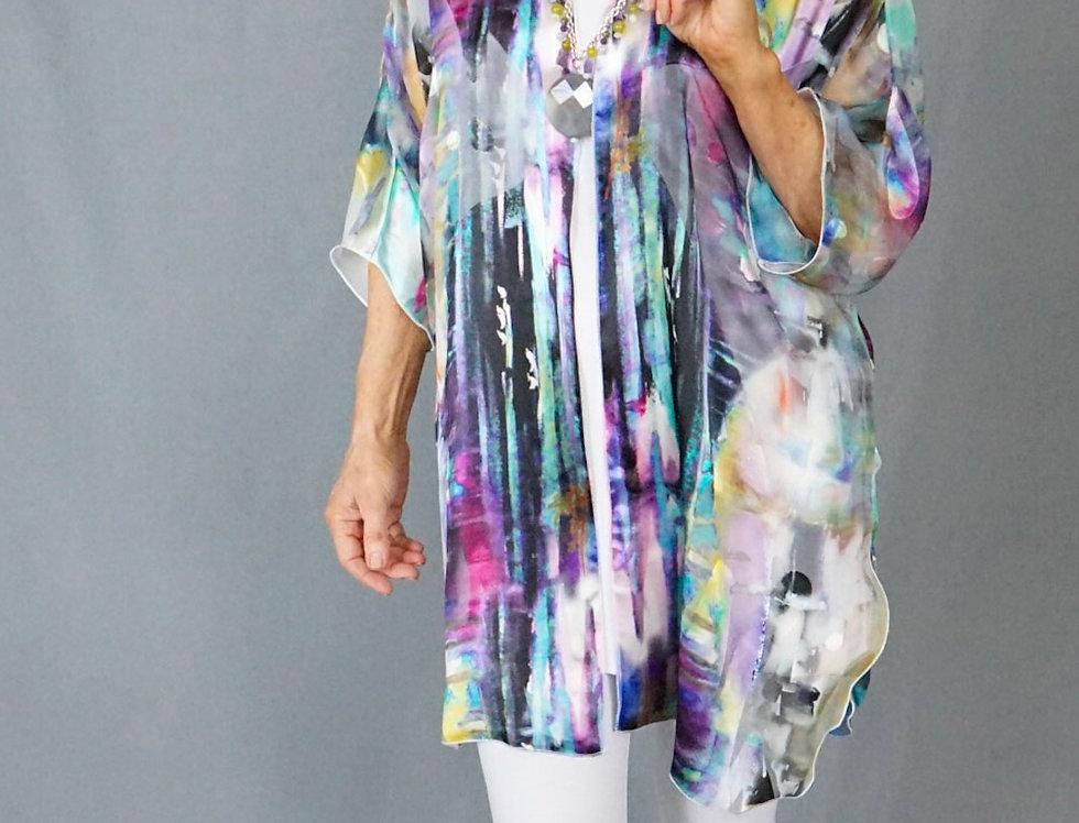 Exclusive Cut Silk Easy Jacket