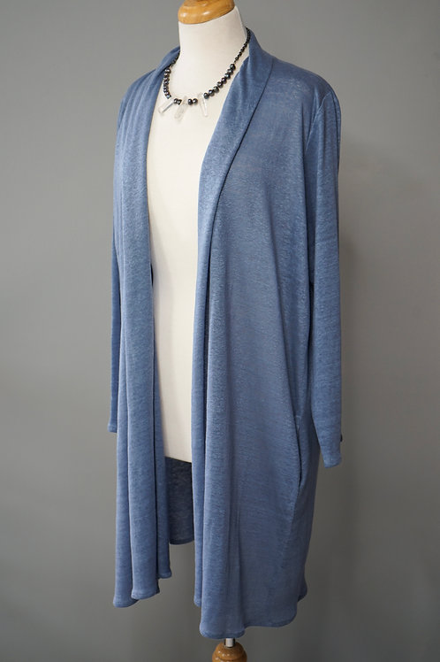 KNIT LINEN DUSTER COAT