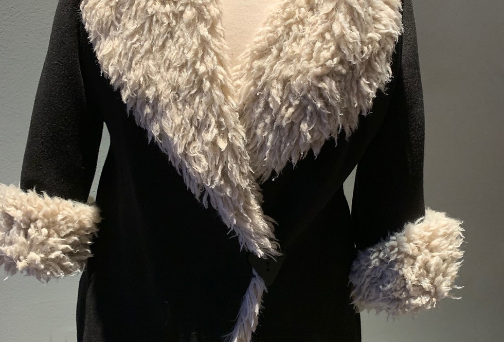 Wool Reversible Faux Fur Jacket