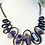 Thumbnail: Amethyst & Rubber Wave Necklace