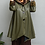 Thumbnail: A-Line Olive Raincoat with Hood