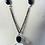 Thumbnail: Lava Leather & Quartz Swirl Necklace