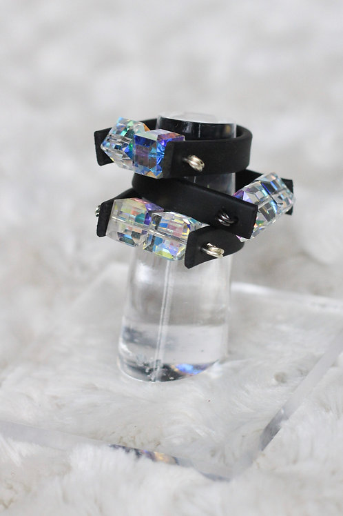 RUBBER CRYSTAL RING