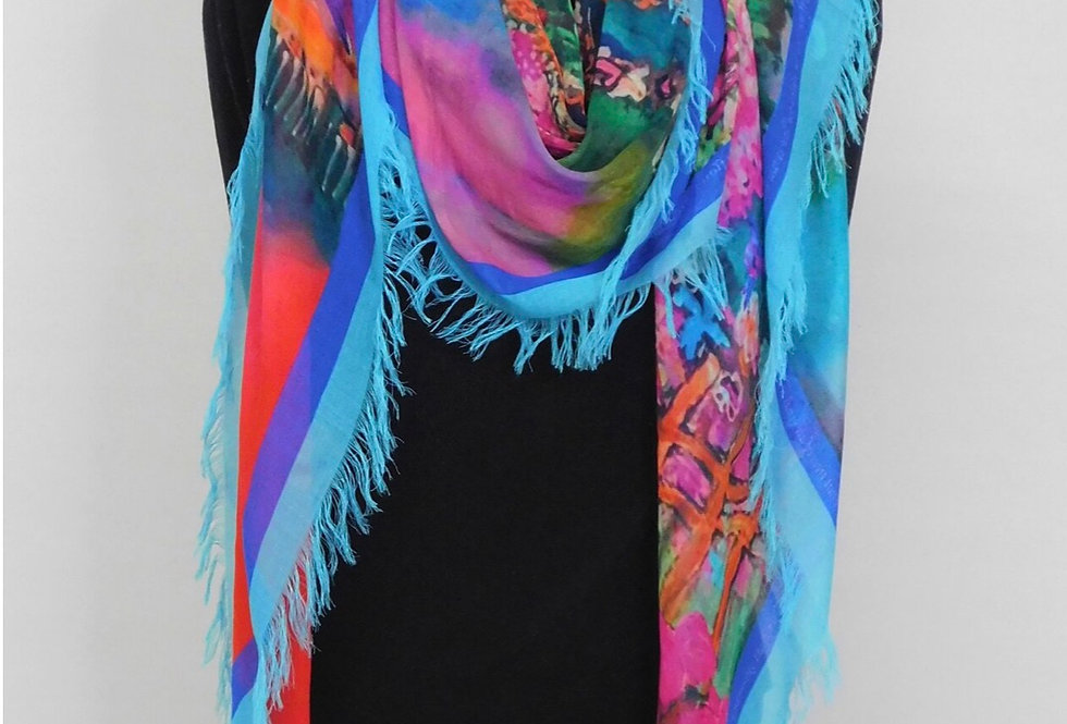 Everywhere the River Flows Silk Scarf