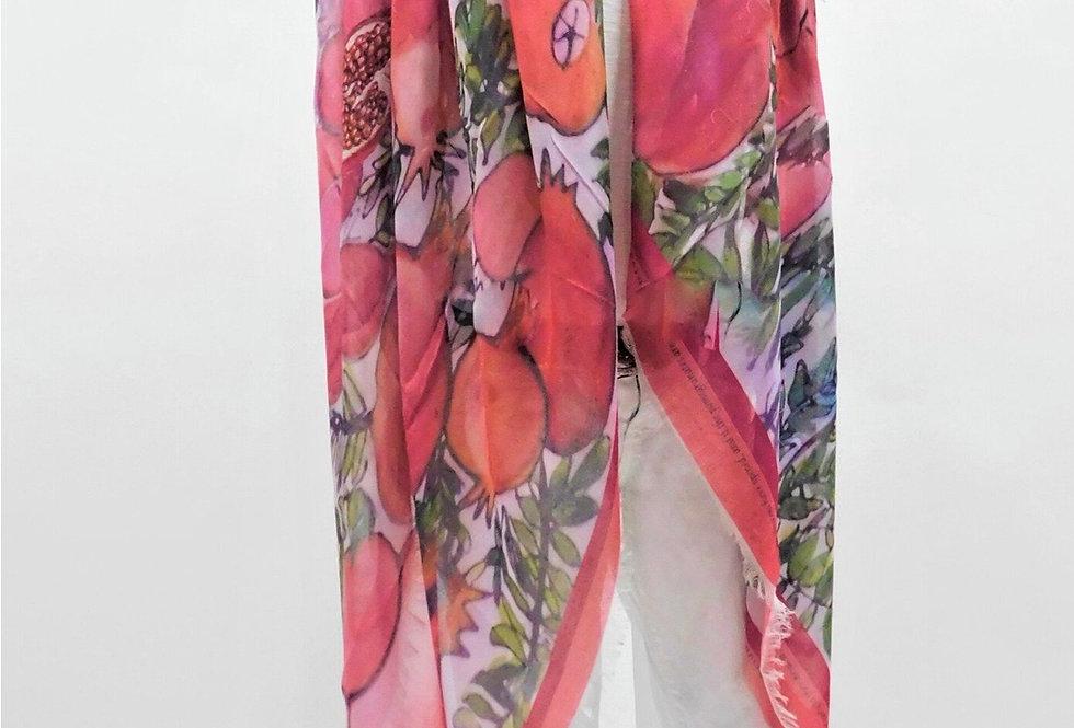 Pump up the Pomegranates Luxury Silk Scarf