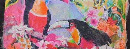Rainbows of Living Colour Toucans Silk Scarf