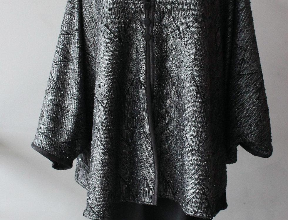 Bat Wing zig Silver Sparkle O/S jacket