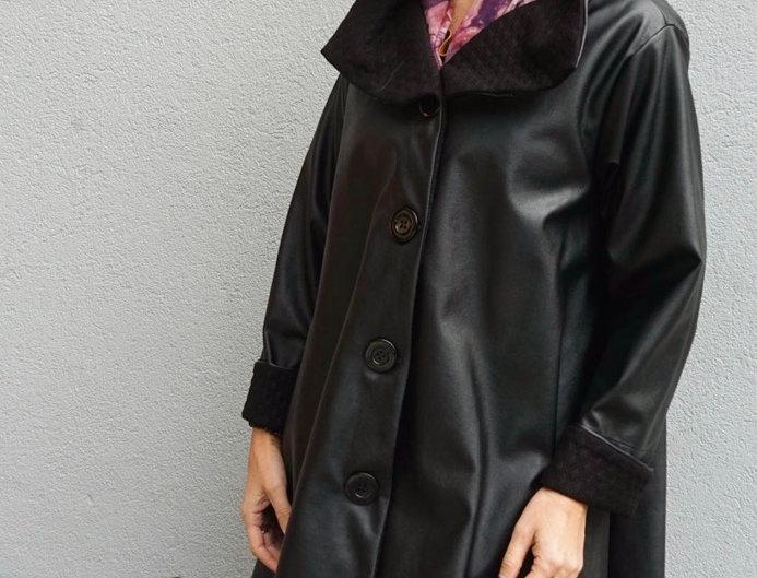 A-Line Black Raincoat