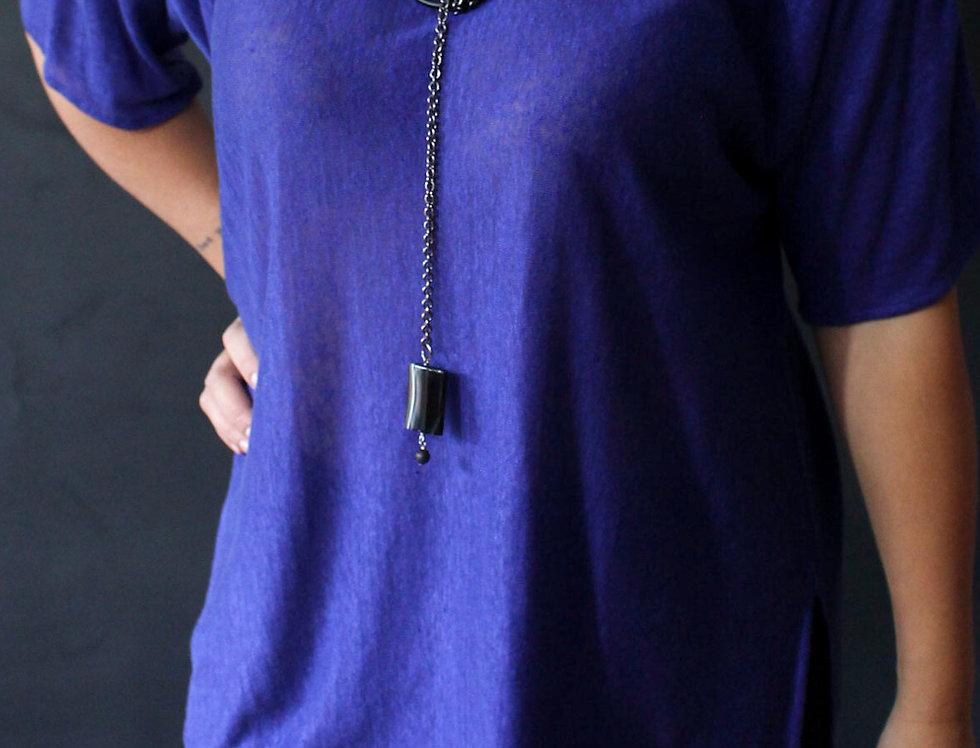 Knit Linen Tunic (3/4 Sleve)