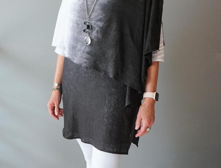 Knitted Linen Ombré Wrap