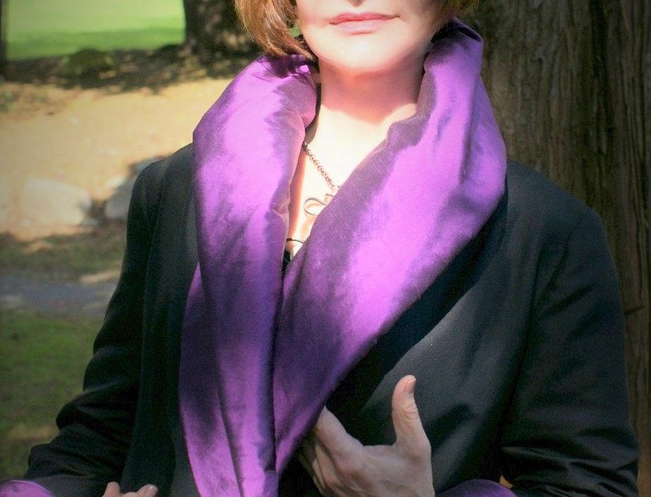 Purple Silk Dupioni Reversible Jacket