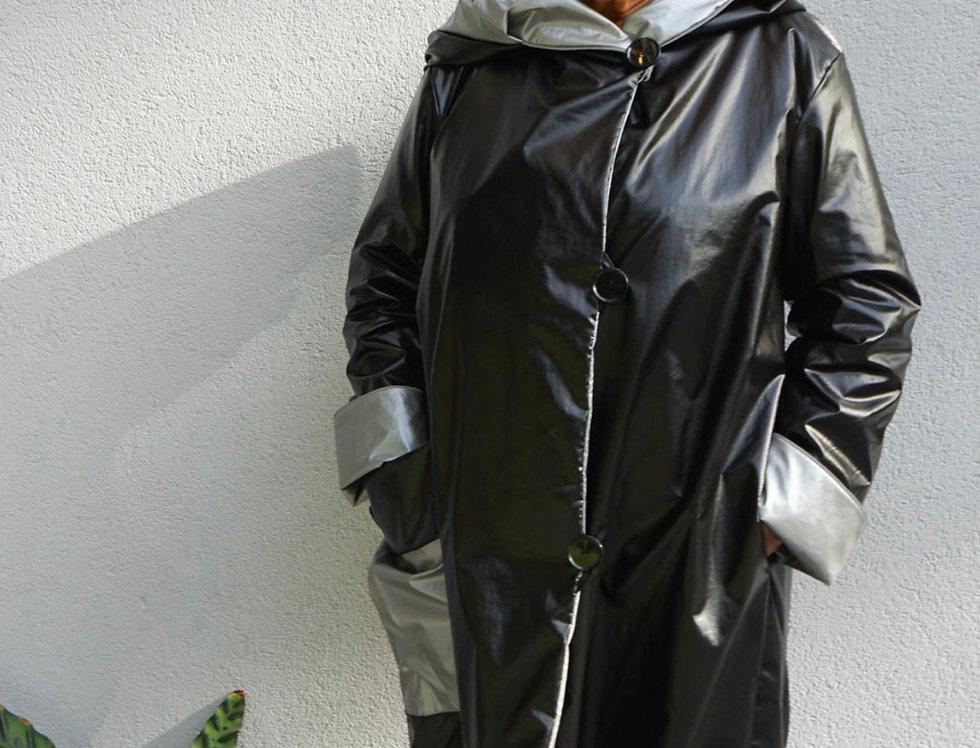 The Asymmetrical Reversible Raincoat