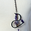 Thumbnail: Amethyst Rubber Wave Pendant Necklace