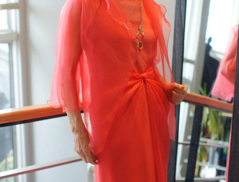 Silk Organza Toga Dress