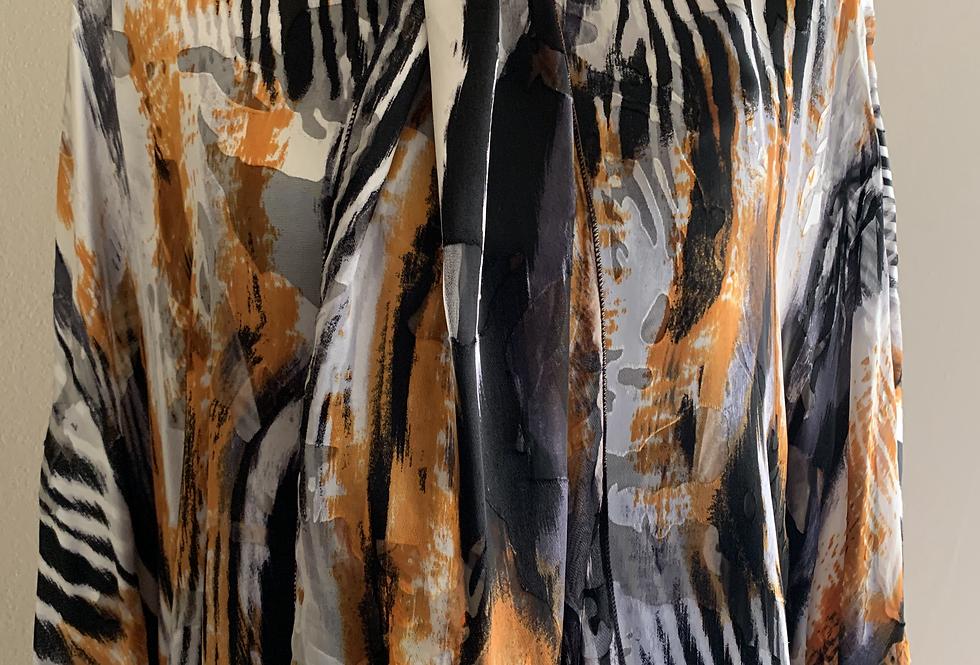 Tiger Print Silk/Viscose Scarf