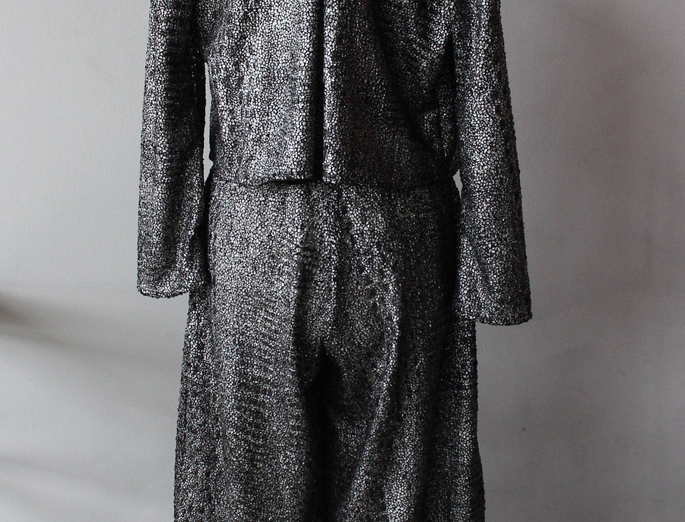 Silver sparkle knit Harem Pant