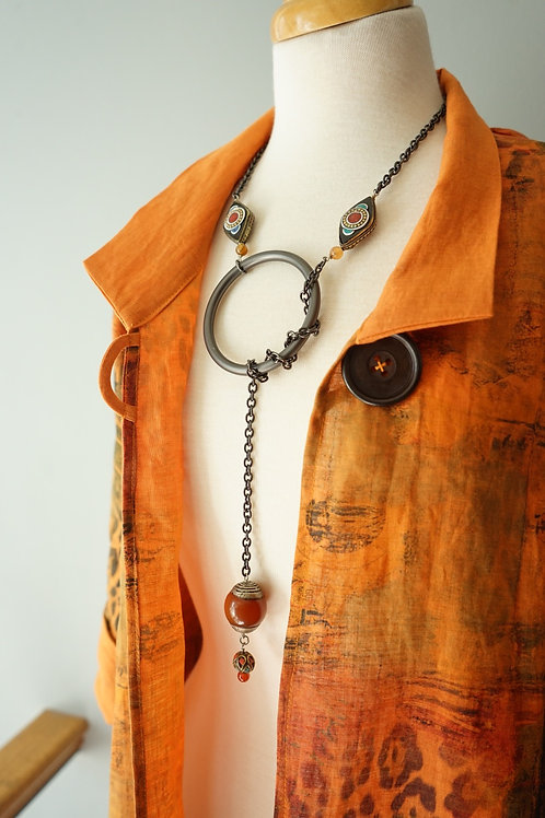 Tibetan Amber Latiat Necklace