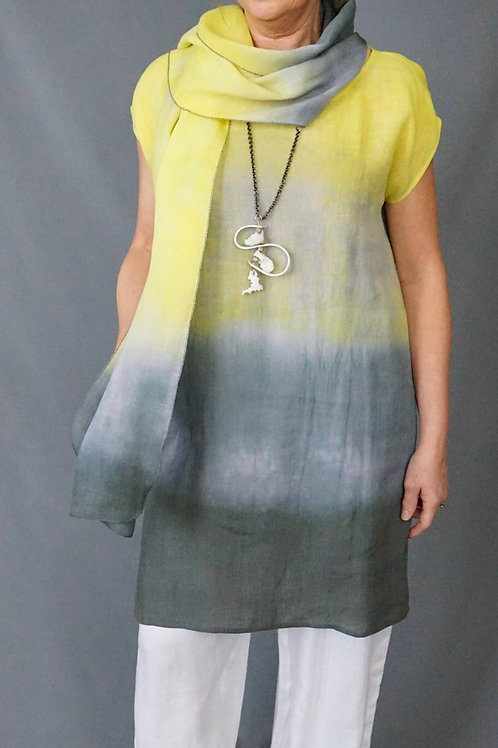 Linen Hand Dyed Ombré long tunic