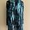 Thumbnail: Blue/Black Devore Silk Easy Jacket