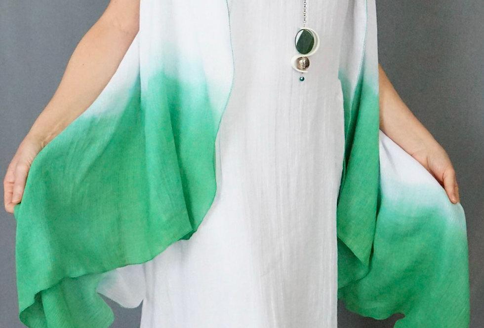 Emerald ombré Hand Dyed 100% Linen Vest