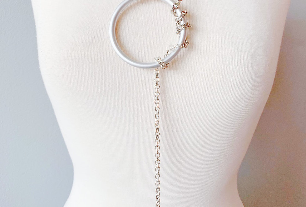 Silver Combo Lariat Necklace
