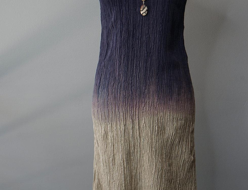 HAND DYED CRINKLE LINEN DRESS