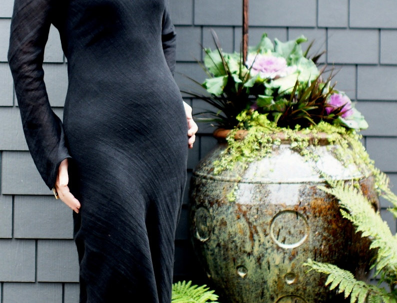 Linen Bias Dress