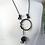Thumbnail: Black & Navy Lava Rubber Wave Necklace