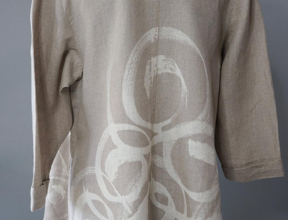 Natural Painted Linen Jacket