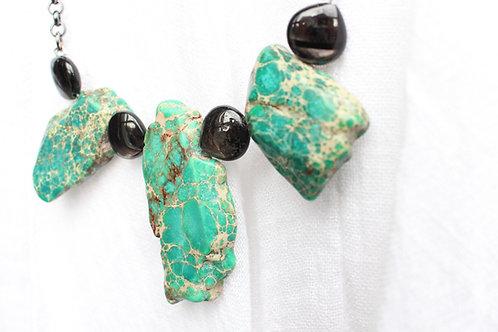 Turquoise Jasper and Hyperstene