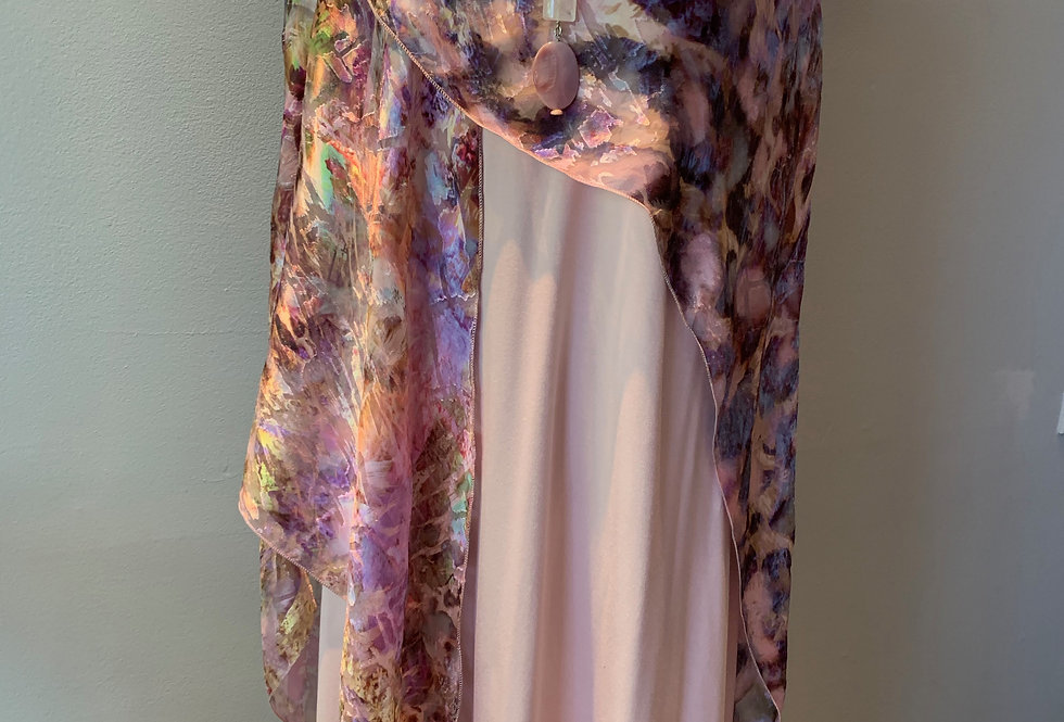 Hand Dyed Hand Painted Large Wrap
