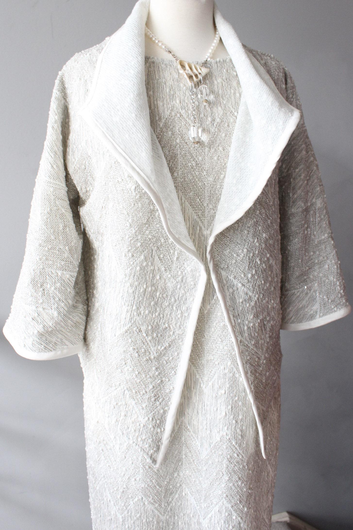 White Sequin Easy Jacket & Dress