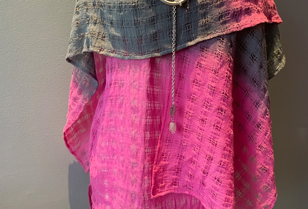 Linen Mesh Hand Dyed Wrap