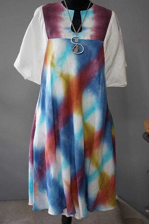 Double Layer Linen Multi Colour Dress