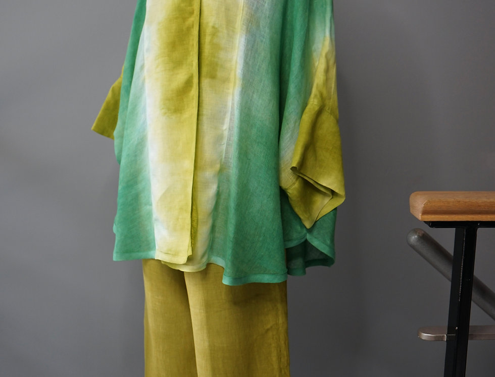 HAND DYED SWING LINEN JACKET