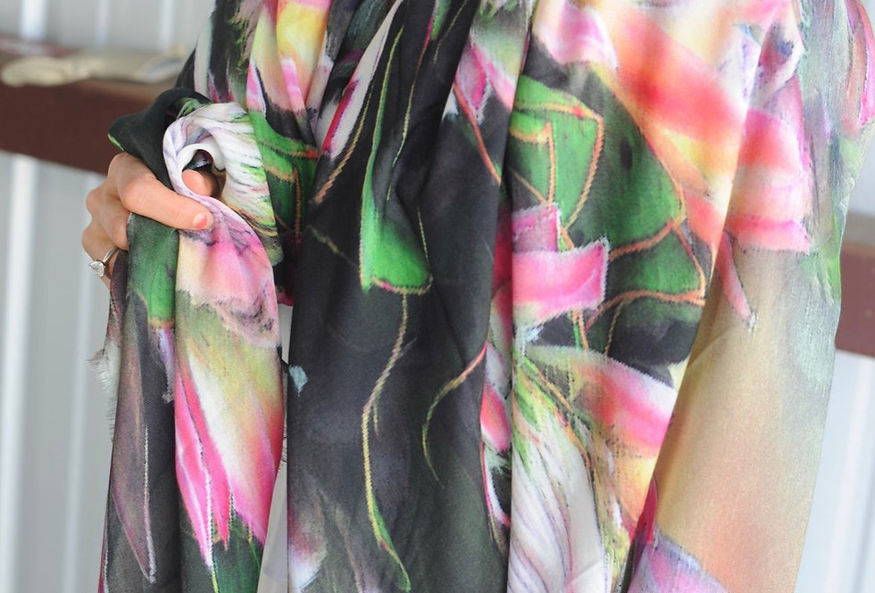 Everything is Beautiful in it's Time Luxury Silk Scarf