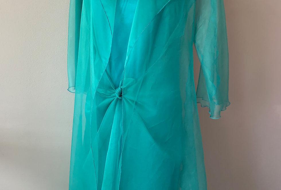 Silk Organza Long Coat